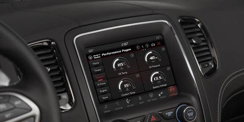 2018 Dodge Durango SRT Uconnect screens