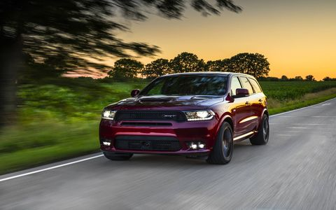 The 2018 Dodge Durango SRT on the road