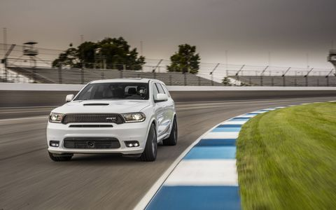 2018 Dodge Durango SRT at the road course, not hauling the track car, but being the track car