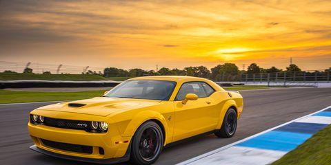 2018 Dodge Challenger SRT Hellcat Widebody on the track