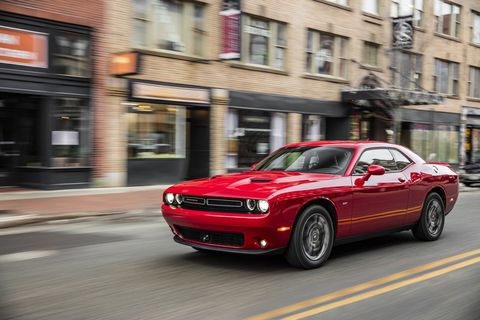 The 2018 Dodge Challenger GT AWD gets a 3.6-liter V6 making 305 hp and 268 lb-ft of torque.