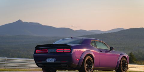New for 2019, Dodge offers the Widebody Package on the Challenger R/T Scat Pack model, which adds 3.5 inches to the overall width. Dodge says that improves handling and braking for the naturally aspirated muscle car.