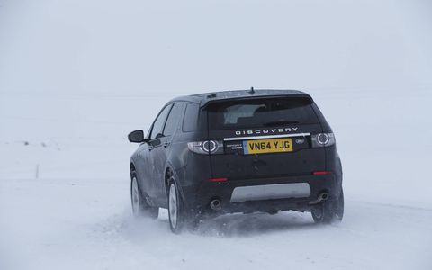 The new Land Rover Discovery Sport in Iceland.