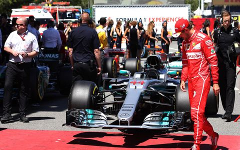 Sights from Saturday's Formula 1 action in Spain.