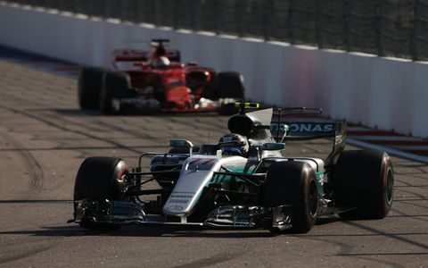 Some of the sights from Valtteri Bottas' Formula 1 victory for Mercedes in Russia on Sunday.