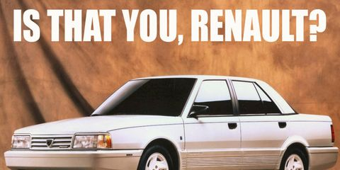 AMC and Renault cooperated on a large luxury sedan, but it was Eagle and Dodge that had to sell them to the public.