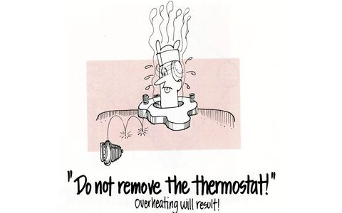 Do not remove the thermostat!