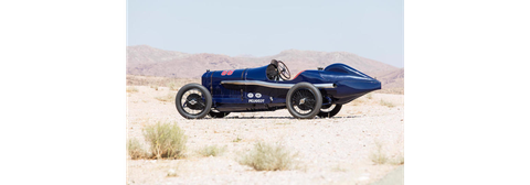 The ex-Indianapolis, Ralph Mulford, Arthur H. Klein, Lindley Bothwell 1914 Peugeot L45 Grand Prix two-seater was top-seller of the Bothwell collection, hammering at $7,260,000 including premium. The car raced in the French Grand Prix, at Indy and on the board track in Beverly Hills.