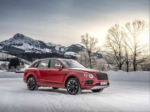 The Bentley Bentayga luxury SUV now gets a 542-hp twin-turbo V8 model to accompany the top-shelf W12 version.