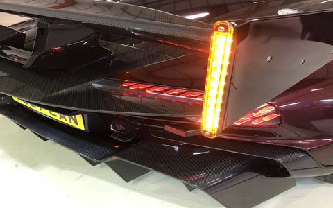 With Aston Martin's permission, RML Group converted an Aston Martin Vulcan to be street-legal in the UK.
