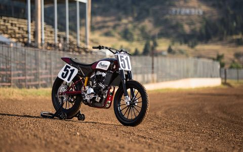Indian is returning to racing with the FTR750; look for the bike at an AMA Pro Flat Track event near you in 2017.