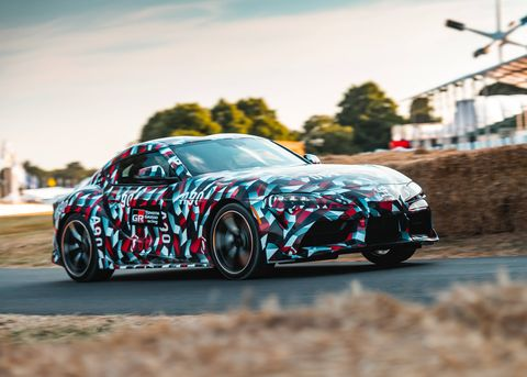 The 2019 Toyota Supra prototype made its public debut at the Goodwood Festival of speed in the UK.