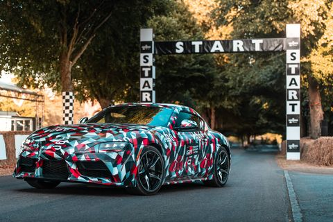The 2019 Toyota Supra prototype made its public debut at the Goodwood Festival of Speed in the U.K.