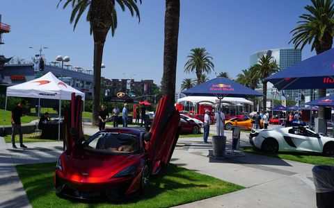 The  Los Angeles Summer Concours debuted June 4 featuring a mix of 70 modern supercars and a good number of beautiful old classics. Crowds were sparse no doubt because of the $250 price tag, but that just meant more elbow room.