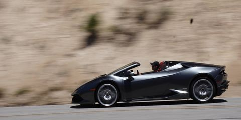 Two Lambos, one day: a red LP 580-2 coupe and a silver LP 610-4 Spyder. We drove 'em both on the best roads we could reach from LA and back in a day. Our advice? Save up and buy at least one, two if you can manage it.