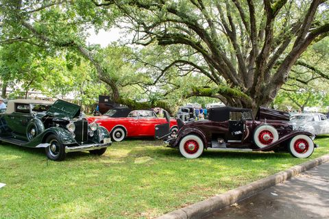 So many cool craft at the Annual Keels & Wheels car, bike and boat show in Seabrook, Texas!