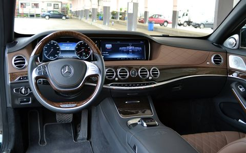The interior is just as luxurious as you'd expect for $177,000.