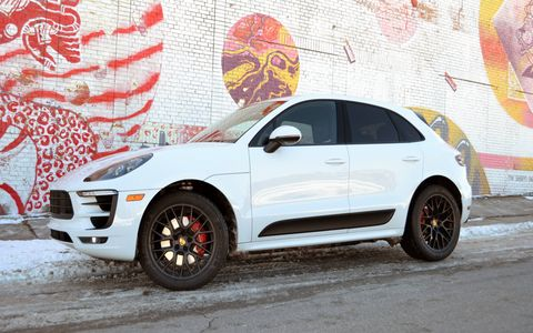 The 2017 Porsche Macan GTS is deceptively fast. It's powered by a turbocharged 3.0-liter V6 making 360 hp and 369 lb-ft of torque.