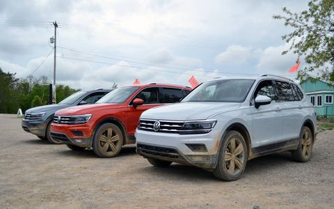 The 2018 Volkswagen Tiguan is available with the optional 4Motion all-wheel-drive system.