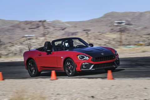 The 124 Abarth gets a 1.4-liter Fiat four-cylinder engine with MultiAir Turbo making 164 hp and 184 lb ft of torque.