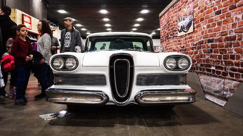 Brian Neu's 1957 Ford Ranchero borrows essential Edsel pieces with a dash of custom styling.