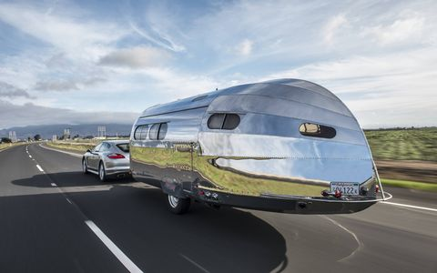 It's lower, narrower and lighter than an Airstream.
