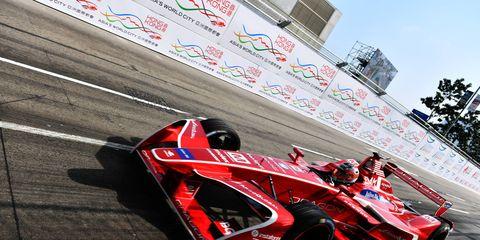 Sights from Round 2 of the FIA Formula E Hong Kong E-Prix, Sunday December 3, 2017.
