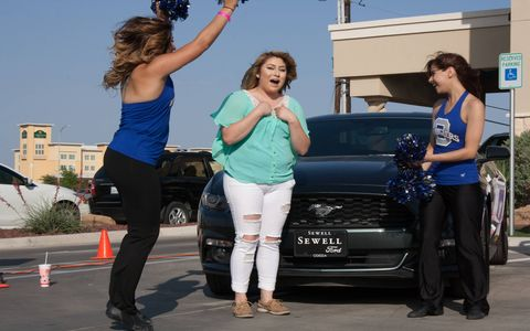 This year's winner, Desiree Alba, is a 19 year-old Sophomore Cosmetology student and Odessa native. She began her Odessa experience as a dual-credit student while still attending Odessa High School, meaning she began taking college courses while in high school – she's clearly self-motivated. She graduates from Odessa May 7 and motors outta there in her new Mustang.