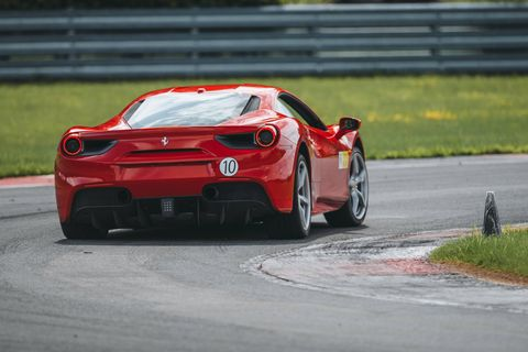 Driving either a red Ferrari 488 GTB or a black Ferrari 812 Superfast, lapping Monticello at the Corso Pilota ticks a lot of dream life boxes