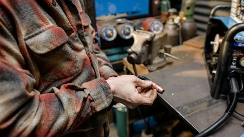 It's important to start with clean equipment. Ensuring the welding torch's tip is free of debris is crucial, as obstructions could prevent shielding gas from flowing onto the workpiece.