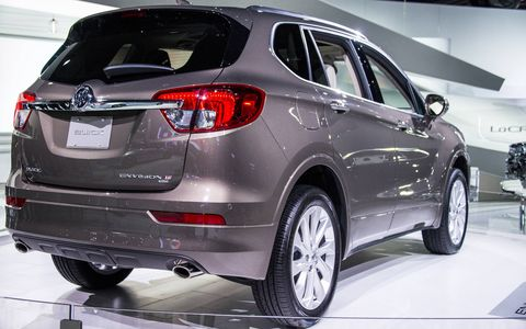The Chinese-made Envision goes on sale at the end of 2016, sliding in between the Encore and the Enclave in Buick's lineup.
