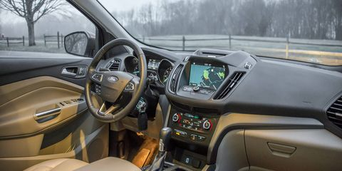 The Escape offers an ergonomic and comfortable interior, with very supportive seats.