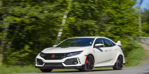 It's street legal, but the Type R feels right at home at the track