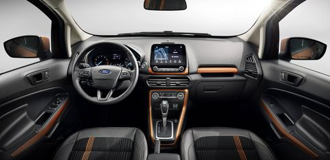 The 2018 Ford EcoSport can be customized with 10 available colors, six interior choices and ambient lighting options.