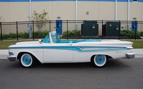 This 1959 Edsel Corsair Convertible is headed to the auction block at Kissimmee on Wednesday.