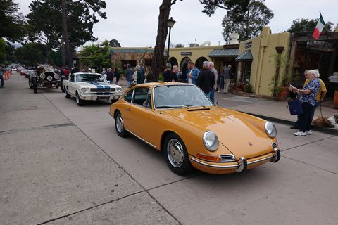 "The Carmel Concours kicks off Monterey Car Week 2018, which culminates in the Pebble Beach Concours Sunday. It's a diverse show: Here a 911 leads a Mustang that leads Gary Wales' La Bestioni ""Rusty Two."" There's something for everyone here."