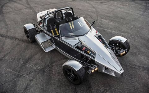 The Ariel Atom 3S weighs just 1350 pounds, the manufacturer says.