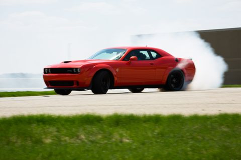 The 2018 Dodge Challenger Hellcat is perfect for turning tires into smoke.
