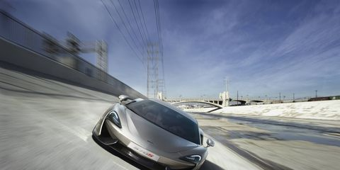 The McLaren 570S made its debut at the New York auto show. It's part of the company's Sports Series of vehicles.