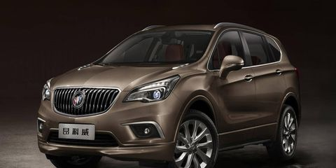 The 2015 Buick Envision would slide in between the Encore and the Enclave in Buick's global lineup.