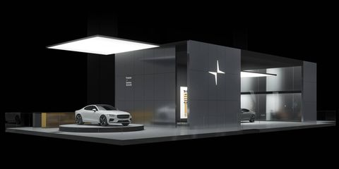 The Polestar 1 hybrid coupe makes a total of 600 hp with three batteries and three electric motors.