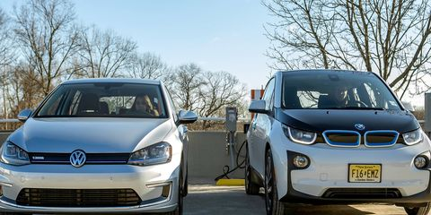 BMW, Volkswagen and ChargePoint installing charging systems along the coasts.