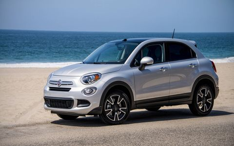 The 500X shares its platform and engines with the Jeep Renegade.
