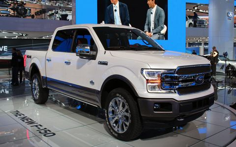 Ford's F150 pickup gets a mild facelift and an optional diesel engine.