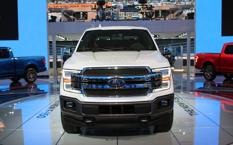 Ford's F-150 pickup gets a mild facelift and an optional diesel engine.
