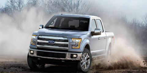 The Ford F-150 Lariat has a high-strength, military-grade, aluminum-alloy body.