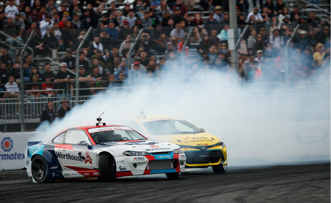 Fredric Aasbo was back to his winning ways at the Formula Drift season-opener in Long Beach.