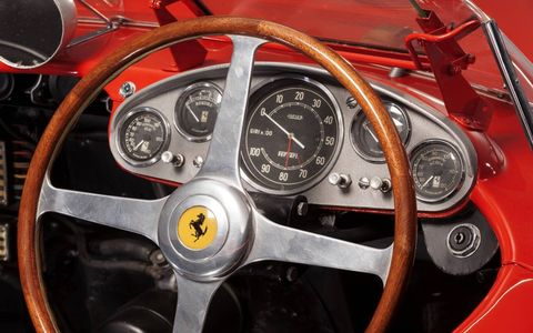 1957 Ferrari 335 Sport Scaglietti sells for $35 million.