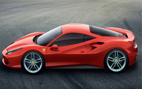 The 488 GTB will be turbocharged.
