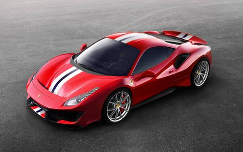 The Ferrari 488 Pista gets the same turbocharged V8 as the GTB, now making 710 hp.